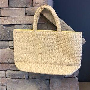 H&M   Large Straw Yellow Interior Shoulder Bag